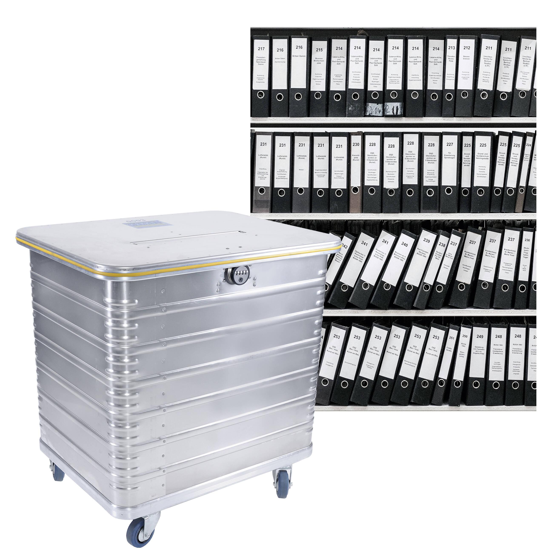 450 Liter Behälter – komfortable Aktenvernichtung in Waghäusel
